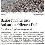 Baubeginn Offener Treff