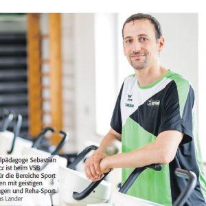 Sebastian von Tycowicz, Übungsleiter des Reha-Sports vom VSB Magdeburg
